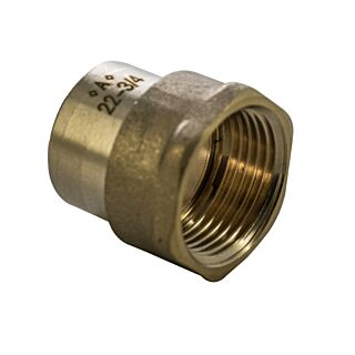 22mmx3/4 END FEED CUxFI-Straight ADAPTOR