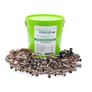 ENDFEED FITTINGS BUCKET 180 PIECE