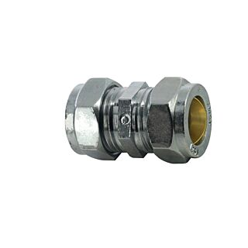 15mm COMPRESSION COUPLING C/P